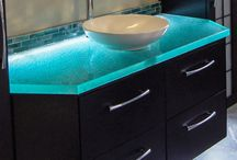 Unique Bathroom Glass Countertops