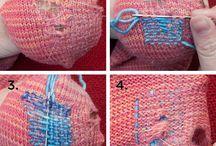 Reparasjon strikketøy