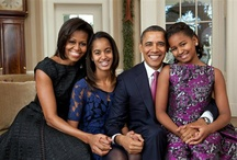President and FLOTUS Michelle Obama and Family / History in the making...a beautiful family. / by Beverley Onajide