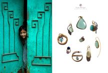 My jewelry in sets of colors / Love to do this kind of compositions.
