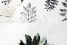 Vegetation sur tissu