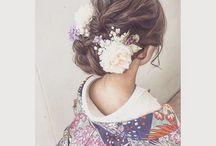 和装 ヘア装花
