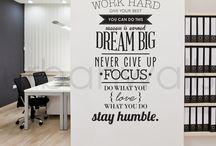 Ofis Duvar yazısı
