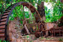 Caribbean Sugar Plantation / Balenbouche Estate sugar mill and grounds