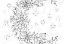 Jardins e flores para colorir