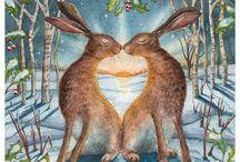 I love hare illustrations...