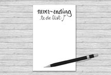 Fun Notepads / A collection of silly, pretty and fun notepads for making to-do lists.