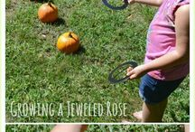 Fall Festivities / A collection of fall activities for kids and adults including scavenger hunts, outdoor games, and festive decor ideas for your porch and table setting.