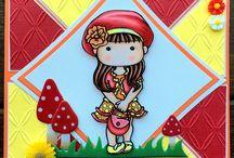 LITTLE MISS MUFFET IMAGES - cute girly handmade cards