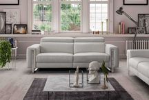 Modern Contemporary Italian Leather White Sofa Collection