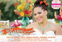 """Get to Know: Real Bride Model Andrea Castro {What's Your Wedding Season: Summer} / From the """"What's Your Wedding Season: Summer"""" feature in the SF2014 issue of Real Weddings, Photos: www.WhiteDaisyPhoto.com © www.realweddingsmag.com; Venue: www.WhitneyOaksGolf.com; Styling/Coordination: www.Strings-Champagne.com; Styling/Floral Design: www.PoshFloristInc.com; H/M: www.AllDolledUpHairAndMakeup.com; Bridal Dress: www.SparkleBridalCouture.com; See full list of vendors: http://www.realweddingsmag.com/get-to-know-real-bride-model-andrea-castro-whats-your-wedding-season-summer/"""