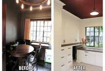 Before and Afters / Room makeovers including WindsorONE Trim Boards, Specialty Boards and/or Moldings