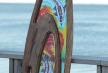 Surfboards / Collaboration Art Glass Surf Boards