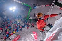 Ice climbing World Cup 2015 - Kirov (Russia) / Red Fox team's ice climbers during the final stage of the Ice Climbing World Cup 2015 in Kirov (Russia)