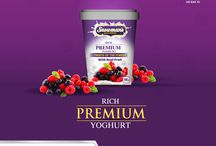 Snowman's Premium Yoghurts / The all new Snowman's Rich Premium Yoghurts.  Now available in all leading supermarkets and stores near you. Product Label Design by Creative Mode