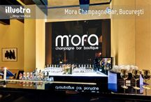 Mora Champagne Bar / Real pictures and randers of a beautiful champagne bar we designed :)