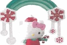 Hello Kitty Christmas Ornaments / Decorate your home with Hello Kitty this Holiday season. A collection of Hello Kitty Christmas ornaments featuring the adorable, always expressionless, Sanrio kitten. If you love the Hello Kitty as much as we do – getting a Hello Kitty Christmas tree decoration may be the perfect addition to your collection this Holiday season. Ho ho ho!
