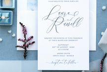 Wedding invite marble