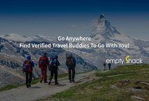 EmptyShack Travel Buddies / Find verified travel buddies globally through EmptyShack