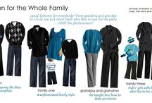 What to wear on a family photo shoot / Hear are a few ideas I put together on what to wear for a family portrait session