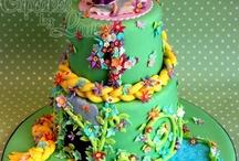 Rapunzel cakes
