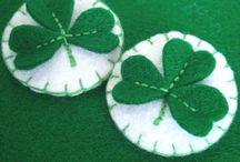 felt clover leaf