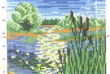 вышивка маленькие пейзажи