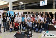Competencias de Robots / La competencia tiene como objetivo promover la participación y el interés de estudiantes, investigadores y público en general en el desarrollo de la investigación y aplicación de la robótica, de manera a formar profesionales de excelencia en el área de la Ingeniería en Mecatrónica que hoy en día se aplica a todos los campos de la ciencia y la tecnología.