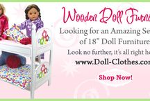 """Sophia's® Doll Furniture for 18"""" dolls for American girls / American Doll Furniture will take your 18-inch doll feel right at home! Choose from a beautiful selection of hand-painted beds and storage pieces. Our American doll furniture comes in a variety of styles that will give your 18 inch doll the room of her dreams!"""