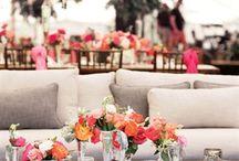 Kimen: Navy and Coral plus whimiscal wedding decor
