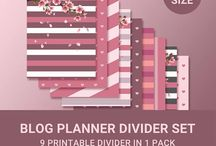 JK Blog Brand Planner Inserts / Stay organized with unique printable planner inserts.
