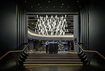 Modern chandelier for commercial spaces / Modern pendants lights for commercial spaces, oversized chandelier for commercial spaces, oversized chandelier for high ceiling spaces, modern chandelier for hotel lobby
