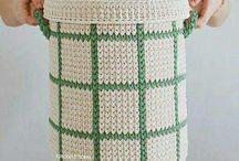 Crochet bins