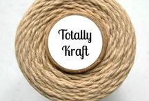 We Love Kraft! / Kraft is our favorite go-to crafting color.  We have twine, packaging, tags, etc. for all the kraft lovers :)
