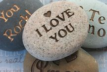 Rocks Rock / Designed Rocks, Stamped Rocks, shaped Rocks, Piles of Rocks.  We love Rocks!