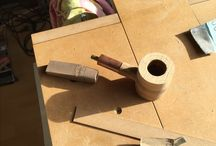 Handmade tobacco pipe / Olive wood and american walnut