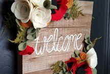Placas de bem-vindos