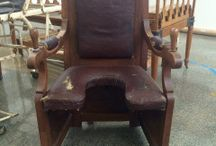 Birthing chairs and stools / Antique birthing chairs and birthing stools