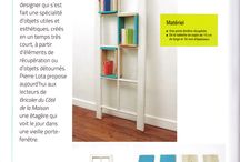 recycle + bookshelves