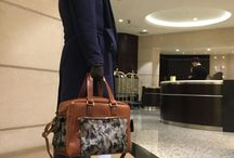 Leather duffle bag for men by Self-Made Bags