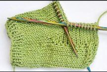 Meia em tricot com 4 agulhas