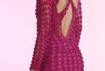 vestidos em crochet