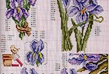 cross stitch iris