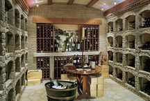 Wine and the wholes the bottles go in. / Fine wines and beautiful cellars