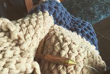 Chunky Knits / Homemade chunky knits made on US size 50 needles.
