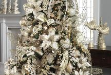 Árboles blancos navidad