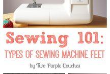 Sewing machine feet