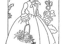 Embroidery - Crinoline Ladies / Needlework