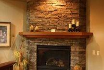 Fireplace/ Wood burning stove/ Tiled stove