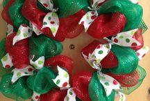 Navidad / coronas y elementos decorativos patchwork